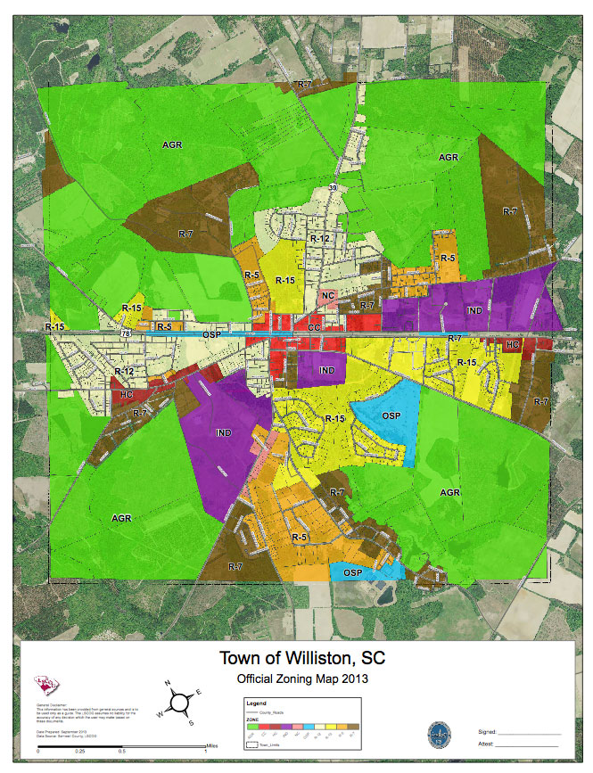Zoning Map Online - Town of Williston on columbia county gis map, anderson county gis map, berkeley county gis map, aitkin county gis map,